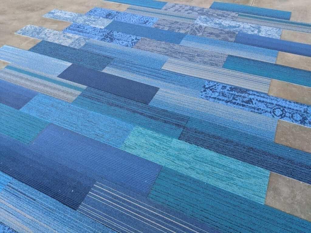 Interface: Blue Family Designer Plank Carpet Tiles (9.75 x 39.4)